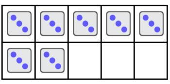 2-5's Subitizing Multiplication Flashcards