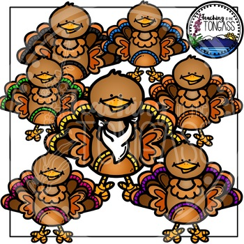 Turkey Clipart 2 (Thanksgiving Clipart)