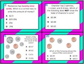 2.5B: Money: Dollar & Cent Symbols TEKS Aligned Task Cards (Grade 2)!