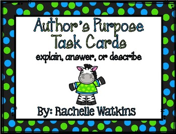 2.6 Author's Purpose Task Cards