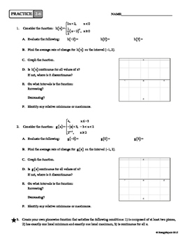2-6 Piecewise Functions