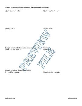 2.7 Implicit Differentiation