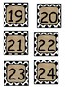 2.75 x 2.75 calendar numbers--polkadots and burlap