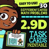 Math TEK 2.9D ★ Measurement with Rulers ★ 2nd Grade Task Cards