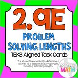 2.9E: Measuring Lengths: Problem Situations TEKS Aligned Task Cards (GRADE 2)