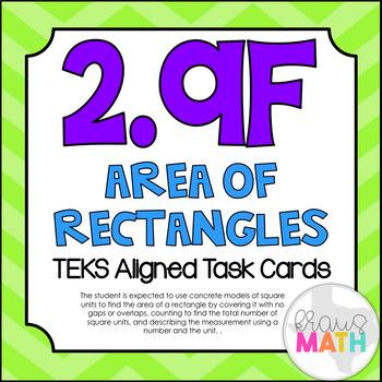 2.9F: Area Models TEKS Aligned Task Cards (GRADE 2)!