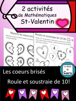 2 activités de Mathématiques - St-Valentin (French FSL)