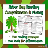 2 Arbor Day Reading Comprehension Passages and Questions + Fluency