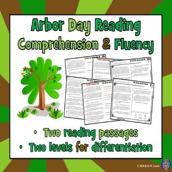 2 Arbor Day Reading Comprehension Passages: Arbor Day Reading Activity