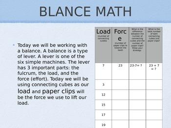 2 Arm Balance Math
