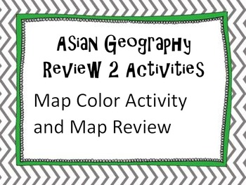 2 Asian Geography Activities