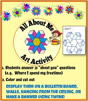 2 Back To School Activities: Icebreaker & Art Activity for Classroom Decorations
