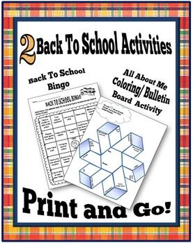 2 Back To School Activities: Icebreaker & Art Activity for