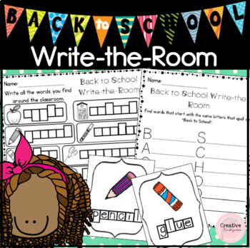 2 Back To School Write-the-Room Activities