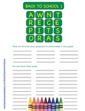 "2 ""Back to School"" vocabulary puzzles (This game is like Boggle™)"