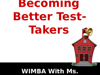 2-Becoming A Better Test Taker PowerPoint Teaching Lesson