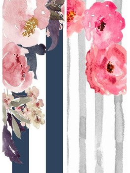 2 Binder Covers and Spine Covers Floral