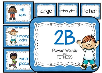 2 Blue Power Words and Fitness