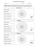 Bohr Models of Ions- 2 Worksheets -3 Skill Level Versions
