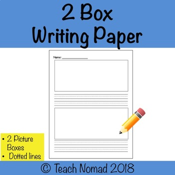 2 Box Writing Paper Template
