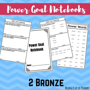 2  Bronze Reading Level Power Goal Notebook