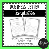 2 Business Letter Templates (Rough & Final Drafts)