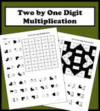 2 By 1 Digit Multiplication Color Worksheet