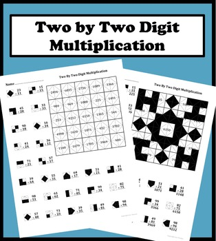 by  digit multiplication color worksheet by aric thomas  tpt