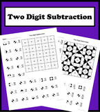 Two Digit Subtraction Color Worksheet