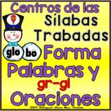 2 Centros de palabras y oraciones  Sílabas Trabadas Gl Gr Snowman Winter Centers