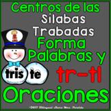 2 Centros de palabras y oraciones  Sílabas Trabadas Tl Tr Snowman Winter Centers