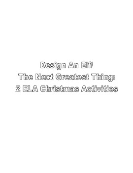2 Christmas ELA Writing Activities