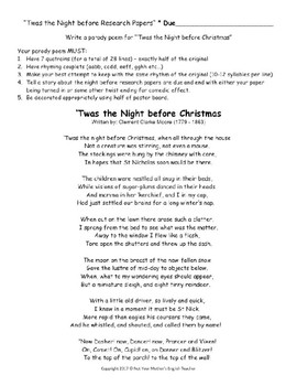 2 Christmas Research Parody Activities