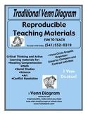 2 Circle Traditional Venn Diagram - Graphic Organizer