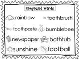 2 Compound Words Quick Reference Posters. ELA