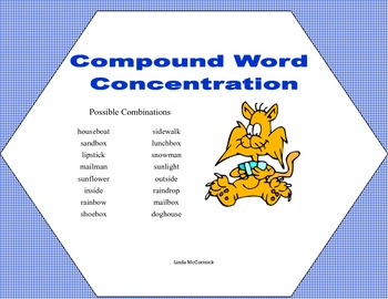 2 Concentration Games-Spelling and Compound Words