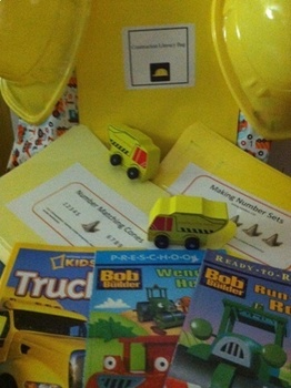 2 Construction Site-Take Home Literacy Bags