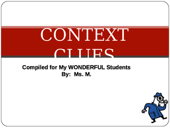 Context Clues Lesson With ANSWER KEYS