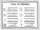 2 Cursive Trace the Homonyms Worksheets. KDG-2nd Grade Han