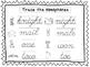 2 Cursive Trace the Homophones Worksheets. KDG-2nd Grade H