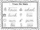 2 Cursive Trace the Nouns Worksheets. KDG-2nd Grade Handwriting.