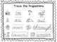 2 Cursive Trace the Prepositions Worksheets. KDG-2nd Grade