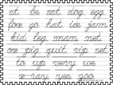 2 Cursive Trace the Words Worksheets. Handwriting