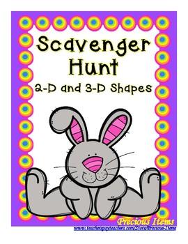 2-D & 3-D Shapes - Scavenger Hunt