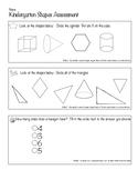 2-D & 3-D Shapes Assessment/Rubric
