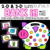 2-D & 3-D Shapes BUNDLE Bank It!: Projectable Game