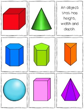2-D & 3-D Shapes Interactive Notebook Activity - Geometry