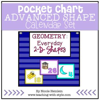 2-D ADVANCED Shapes Everywhere - Pocket Chart Calendar Set