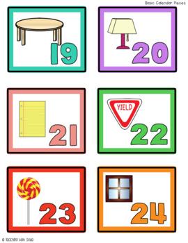2-D BASIC Shapes Everywhere - Pocket Chart Calendar Set