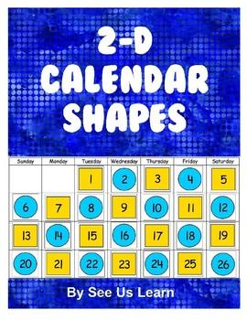 2-D Calendar Shapes